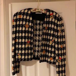 Classic St. John short jacket in signature knit.